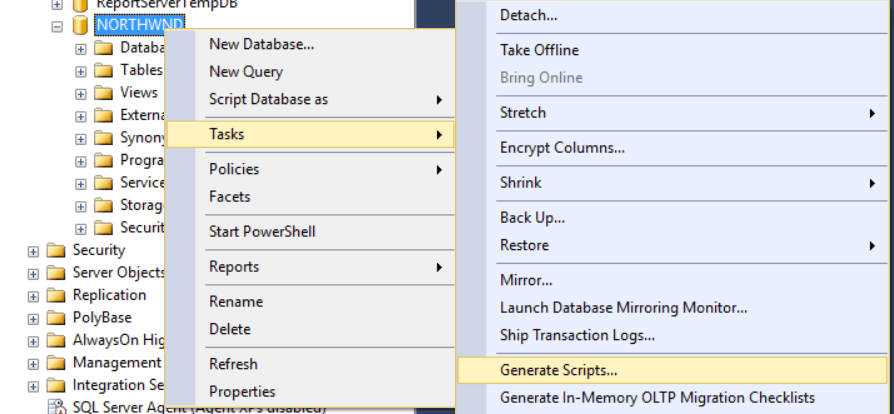 Creating a SQL Database Project For Isolated Development