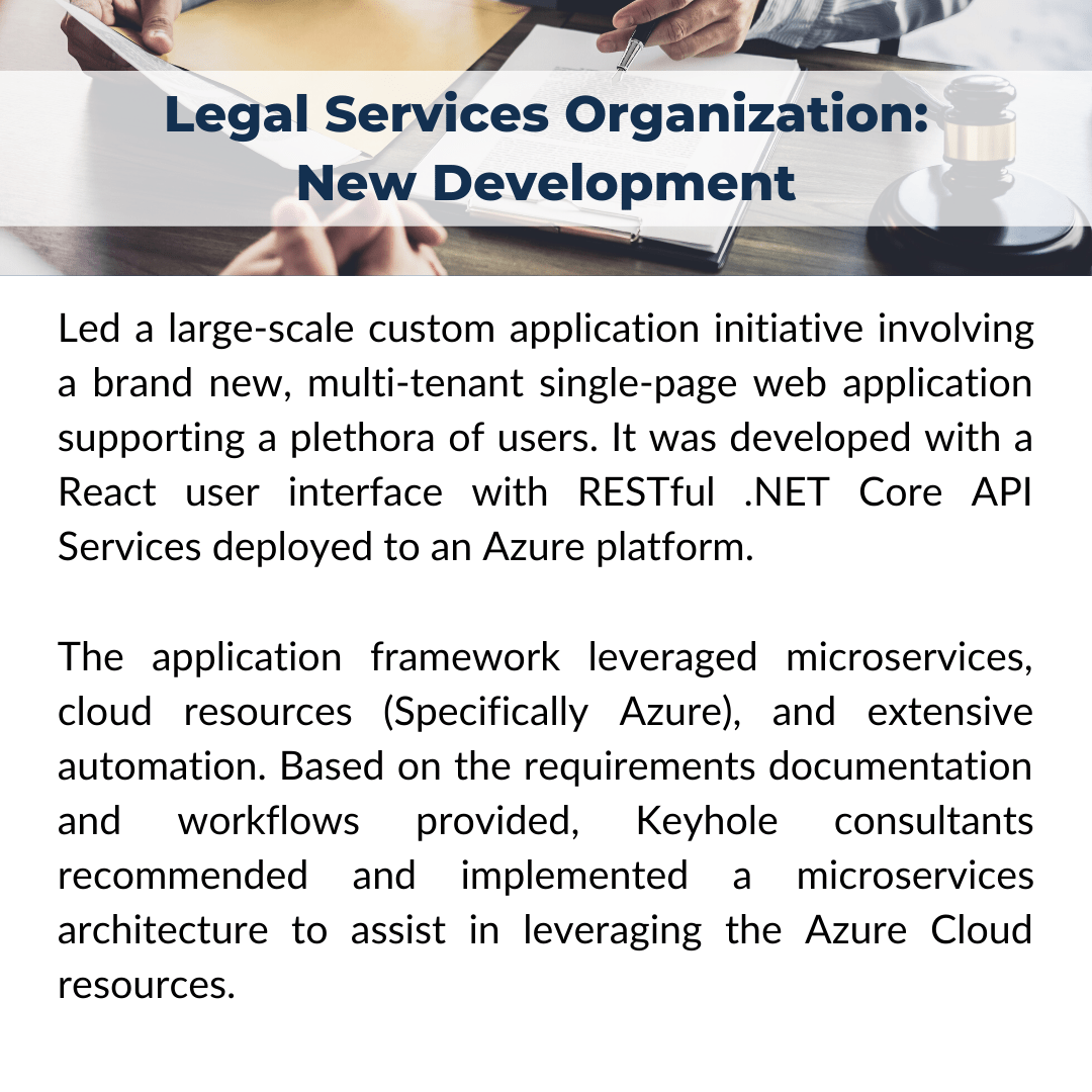Recent Project Snapshot: Legar Services Organization