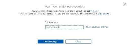 Create storage