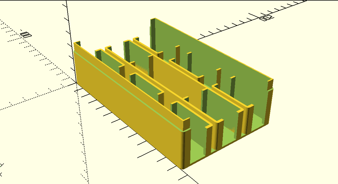 using openSCAD to create board game organization