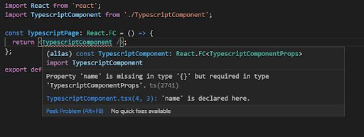 TypeScript for React components