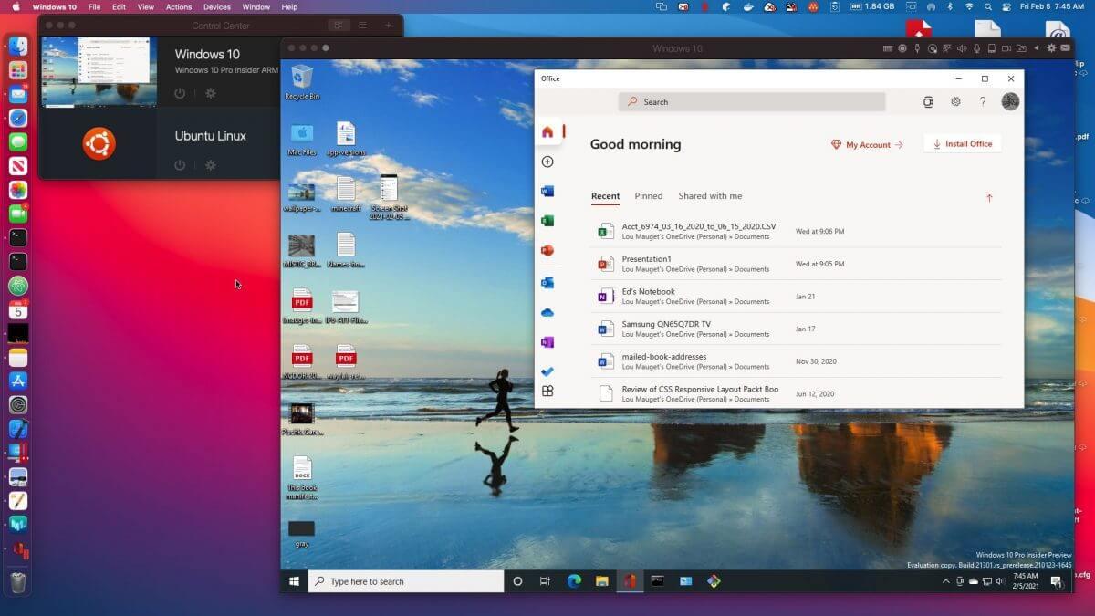 Parallels Desktop window