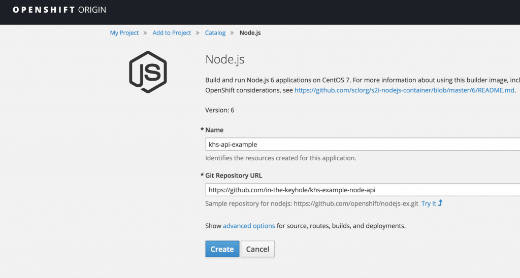 OpenShift Quick Start | Keyhole Software
