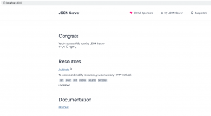 JSON Server home page