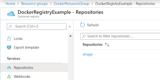 View Docker Image in Azure