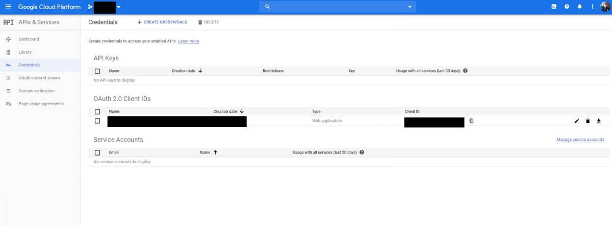 Google OAuth2 implementation