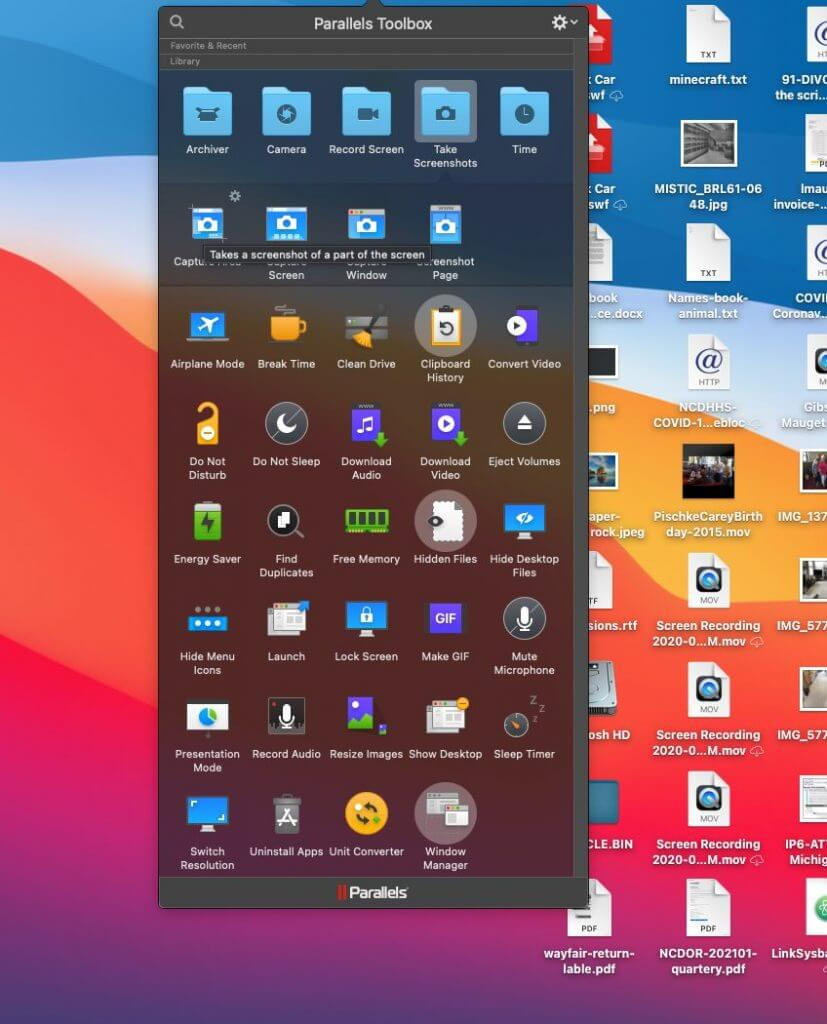 Parallels Toolbox for Apple M1