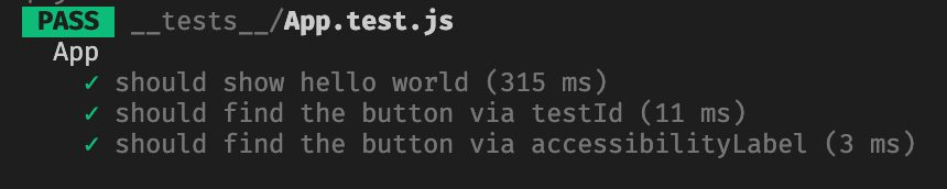 Testing React Native Buttons